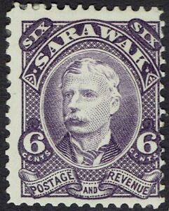 SARAWAK 1895 RAJA CHARLES BROOKE 6C