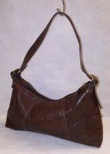 FOSSIL  Brown Tooled Embossed Leather Hobo Shoulder Bag Purse
