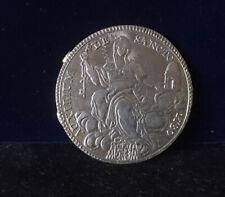 Solid silver ITALIAN STATES, PAPAL STATES, Pius VI, Scudo, 1780 Good Fine
