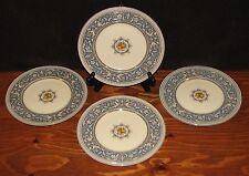 "Myott Staffordshire England Sky Blue Medici #4745 Set of 4 Salad Plates 8"""