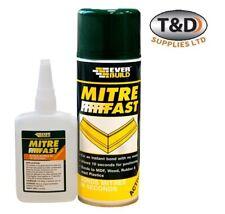 Everbuild JUMBO Mitre Fast Fix Super Glue Bonding Kit 100g Glue&400ml Activator