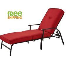 Chaise Lounge Cushion Outdoor Patio Balcony Backyard Red New!