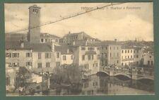 Veneto. TREVISO. Ponte S. Martino e Panorama. Cartolina viaggiata nel 1915.