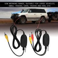 Kit RCA Ricevitore Video Wireless Con Telecamere Retromarcia Auto Trasmettitore