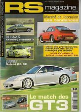 RS MAGAZINE 23 PORSCHE 996 GT3 360CH & 381CH 911 CABRIOLET TURBOLOOK 964 RS 3.6