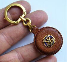 Ancien porte clé Augis émail et cuir Rotary International Années 60