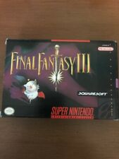 Final Fantasy III 3 iii FF - Super Nintendo SNES RPG Box