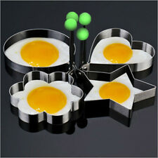 4Pcs Stainless Steel Mould Pancake Mould Ring Fried Egg Cooking Shaper Mould