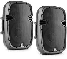 "COPPIA CASSE AMPLIFICATE ATTIVE FULL RANGE 2 VIE 800W WOOFER 26 CM (10"")  ABS"