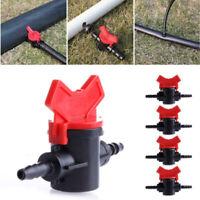 Garden Irrigation 4mm Coupling Pipe Water Hose Switch Plastic Valve Kit 2019