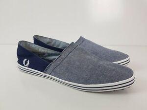 FRED PERRY Blue Loafer Boat Walking Shoe Sneaker Mens Size UK11 US12 EU46