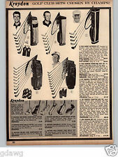1966 PAPER AD Paul Harney Fred Hawkins Joe Campbell Bob Rosburg Golf Clubs