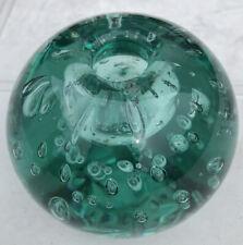 Victorian Green Glass Dump Inkwell Paperweight