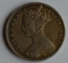 1849  Victoria Godless Gothic One Florin Two Shillings Silver Coin High Grade