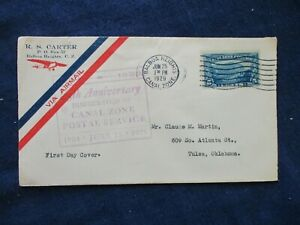 1929 Canal Zone 25th Anniversary Postal Service Airmail First Day Cover