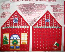 COUNTRY CLASSIC CHRISTMAS HOUSE COTTON FABRIC PANEL - SEW & STUFF
