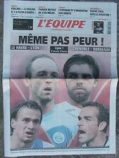 L'Equipe du 20/9/2008 - Ligue 1 - Parker - Espagne et Argentine - Collins