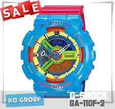 G-SHOCK BRAND NEW WITH TAG GA-110F-2 Hyper Color BLUE COLOR Limited Edition