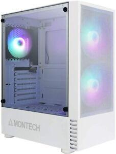 Montech X2 White Compact ATX Mid Tower Mesh Computer Power Case w/ 120mm RGB Fan