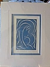 """Embossed Etching - """"Mother and Child"""" - signed Ann P. Ingerson"""