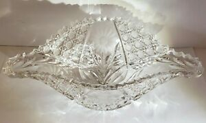 Antique 19th C. ABP American Brilliant Period Deep Cut Crystal Centerpiece Bowl