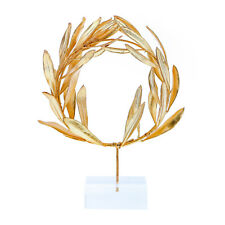 Olive Wreath - Real Natural Plant - Handmade 24K Gold Plated on Plexiglass