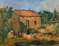 Abandoned House Paul Cezanne Fine Art Print on Canvas Giclee Poster Repro Small
