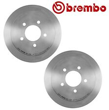 Pair Set of 2 Rear Solid Disc Brake Rotors 334 mm 5 Lugs Brembo For Ford Lincoln