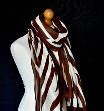 LADIES BROWN AND IVORY ZEBRA PRINT SOFT OVERSIZED SCARF WRAP GREAT GIFT IDEA