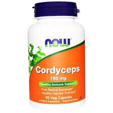 NOW Foods Cordyceps 750MG 90 VCaps Vascular Anti-Inflammatory Antioxidant Immune