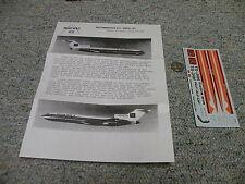 Runway 30 decals 1/144 Boeing 727 Tunis Air Qq8