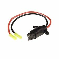 Sierra Male Trolling Motor Plug 12 volt With 2 Wire WH10480 MD