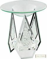 Diamond Shape Glass Yankee Candle Wax Tart Compatible Oil Burner Tealight Holder