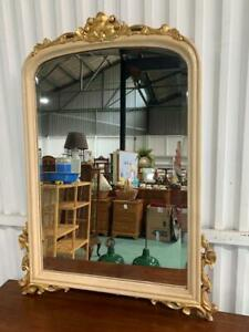 H41039 Vintage French Style Beveled Glass Mirror