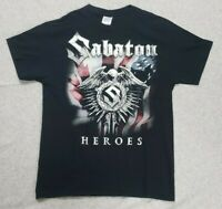 Sabaton Heroes North American Tour Concert Shirt Heavy Metal Rock Band
