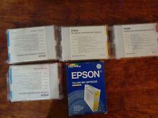 LOT OF 5 GENUINE EPSON STYLUS 3000 Pro 5000 C/M/Y PRINTER INK S020122-26-S020130
