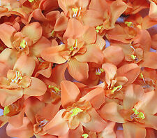 "cymbidium orchid 3.1""/8cm Head Artificial Silk Flower Heads Wedding bride décor"