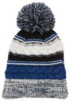 Sport-Tek New Acrylic Pom Pom Chunky knit Beanie Warm Winter Hat.  STC21