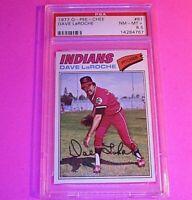 1977 O-Pee-Chee OPC Baseball, #61 Dace LaRoche Indians, Graded PSA 8.5 NmMt+