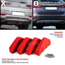 Bumper Diffuser Molding Aero Parts Lip Fin Body Spoiler Chin Red 4P for CHRYSLER