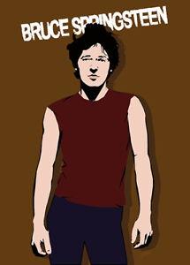 Bruce Springsteen - Cartoon Bruce - Original (signed) art print - Jarod Art
