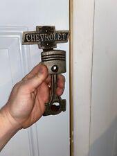 Chevrolet Chevy Door Handle Collector Solid Metal Patina Finish Sinclair Texaco