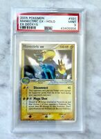 Manectric EX Holo Pokemon Card 2005 EX Deoxys-Series 101/107 BGS PSA 9 Mint