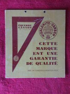 Carton publicitaire VIDALONITE CANSON/Equerre/Canson Montgolfier  21x23