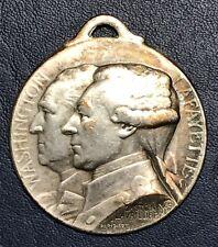 MÉDAILLE WASHINGTON LAFAYETTE JOURNÉE DE PARIS 1917
