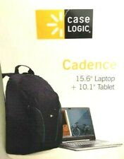 "Brand NEW CASE LOGIC 15.6"" Laptop + 10.1"" Tablet/iPad Backpack Black"