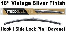 "Classic Wiper Blade 18"" Antique Vintage Styling Silver Finish Trico - 33-183"