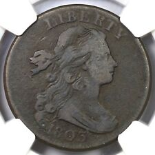 """1803 NC-1 R5+ NGC VG10 """"Sm Date, Sm Frac"""" Draped Bust Large Cent Coin 1c"""