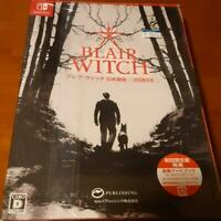 Nintendo Switch Blair Witch First Limited Japan Edition Art book Soundtrack new