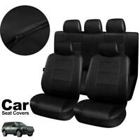 11PCS Leather Universal Car Seat Covers Full Seat Set Front Rear Headrest Cover